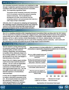 What is the Computing Community Consortium? (click to view flyer)