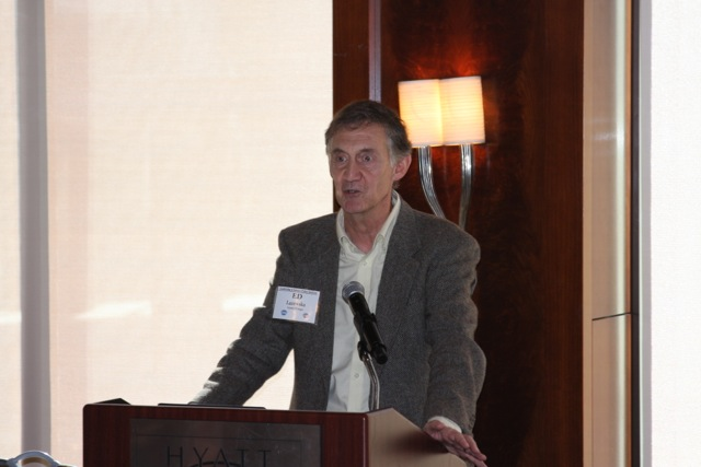 Ed Lazowska, CCC Council Chair and Bill & Melinda Gates Chair in Computer Science and Engineering at the University of Washington, describes his experiences serving on multiple Federal advisory committees to LiSPI participants Monday morning.