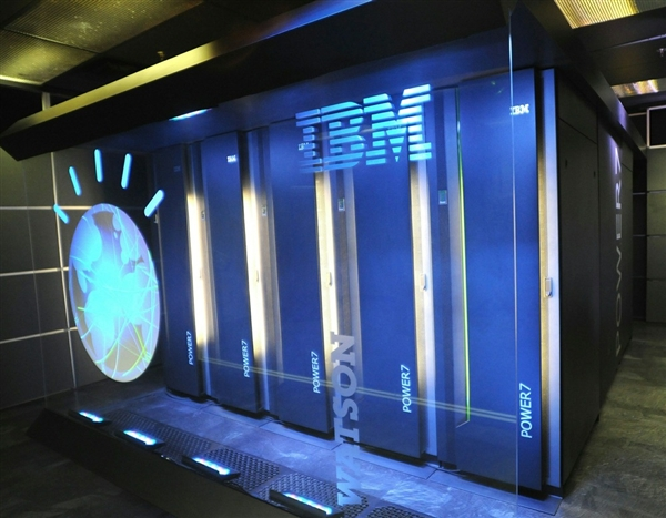 IBM's Watson computer is made up of a cluster of 90 computer servers with a total of 2,880 processor cores [image courtesy IBM via AFP, msnbc.com]..