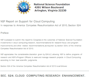 NSF Report on Support for Cloud Computing [image courtesy NSF].