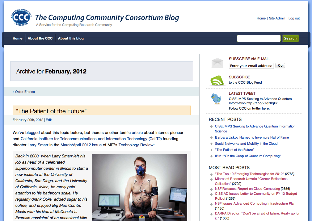 CCC Blog in February 2012