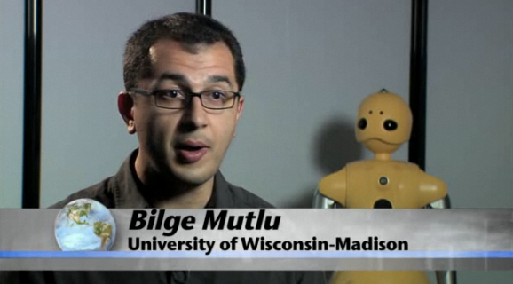 Blige Mutlu, University of Wisconsin-Madison, leading the gaze-programmable robots effort [image courtesy NSF].