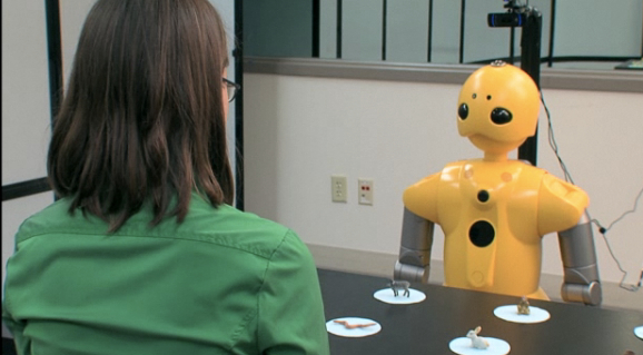Researchers are programming robot teachers to gaze and gesture like humans [image courtesy NSF].