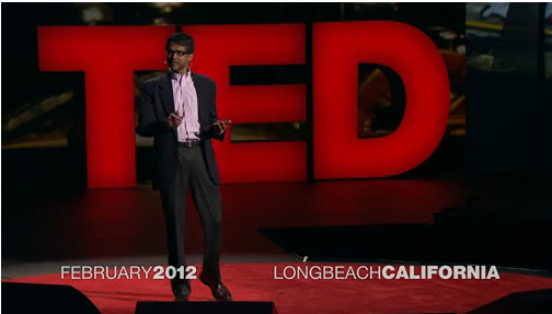 Vijay Kumar speaking at TED 2012 [image courtesy TED].