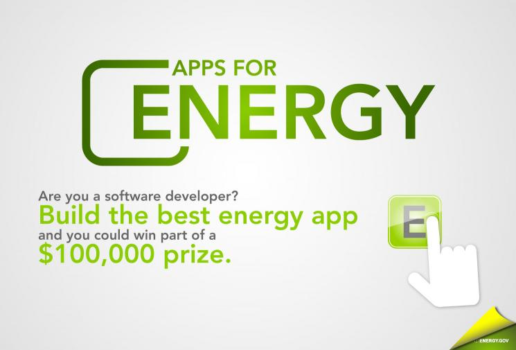 The Apps for Energy challenge competition [image courtesy DoE].