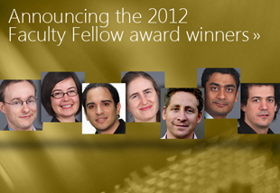 Microsoft Research names its 2012 Faculty Fellows [image courtesy Microsoft Research].