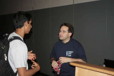 Scott Aaronson visiting TJHSST last Friday.