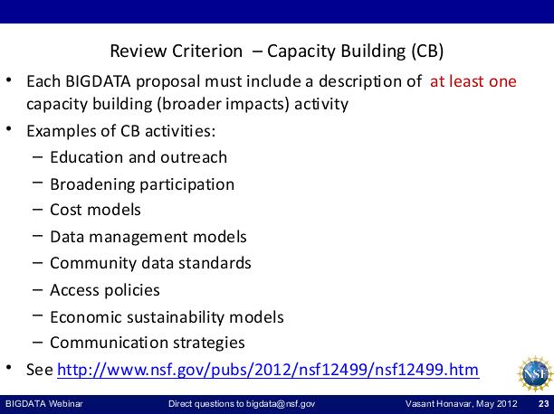 BIGDATA Webinar [image courtesy NSF].