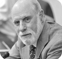 Vint Cerf, Google, General Chair for ACM's A.M. Turing Centenary Celebration and the 2004 Turing Award winner [image courtesy ACM].