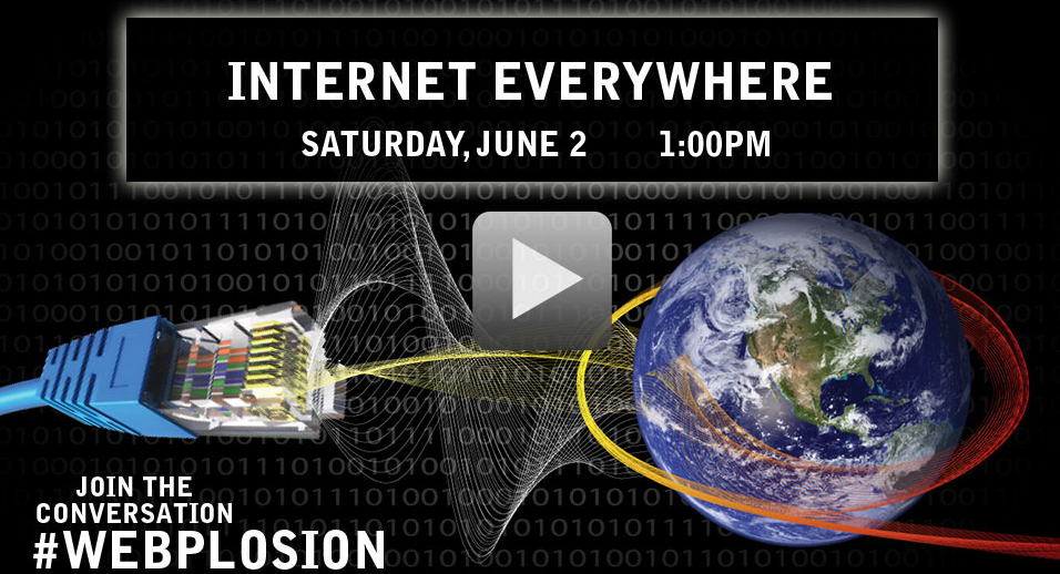 Internet Everywhere: Saturday, June 2 at 1pm EDT [image courtesy World Science Festival].