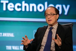 Ray Kurzweil at The Wall Street Journal's annual CTO Network Conference in Washington, DC, last week [image courtesy Ralph Alswang for The Wall Street Journal].