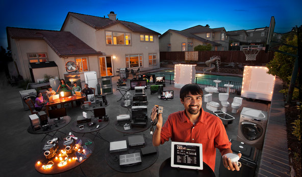 Shwetak Patel developed technology that measures energy and water use in homes [image courtesy Peter Menzel/The Human Face of Big Data via The New York Times].