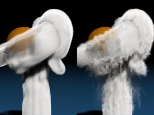 low_resolution_smoke_flow_compared_simulation_Wavelet_Turbulence